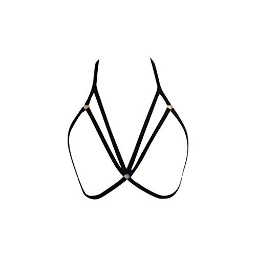 Underwear-PHOTNO-Womens-Sexy-Harness-Bra-Elastic-Bra-Strappy-Hollow-Out-Bra-Bustier