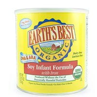 Earth's Best Organic Soy Infant Formula with Iron, ARA, & DHA, 23.2 Ounce Can