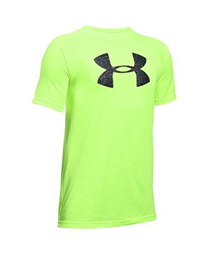 Under Armour Boys' Tech Big Logo T-Shirt, Fuel Green (365), Youth Small