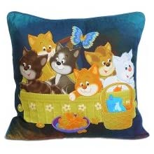 Swayam Kids N More Digital Print Mercerised Cotton 2 Piece Kids Cushion Cover Set - Multicolor (KCC 122-101)