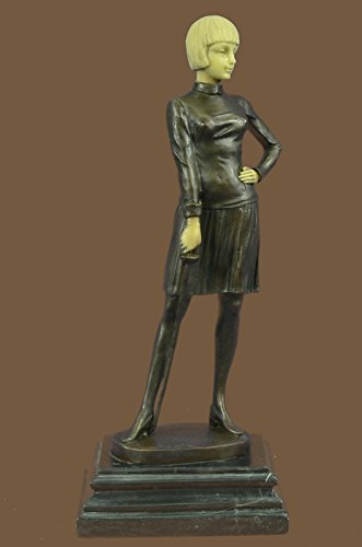 ...Handmade...European Bronze Sculpture Art Deco Hot Cast Fencer With Faux Bone Holding Foil Nr(1X-XQ-028)Statues Figurine Figurines Nude Office & Home Décor Collectibles Deal Gifts