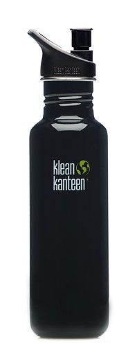 Klean Kanteen Stainless Steel 27 Ounce Water Bottle With 2.0 Sports Cap, Black Eclipse