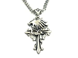 Rope chain with a (Final Fantasy ) Kingdom Hearts Keyblade Sora fan goods, items costume accessory accessories cosplay props top scratch resistant FF8 Squall Leonhart Sleeping Lion Heart weapon motif necklace crucifix cross FINAL FANTASY [FF8 Squall necklace B] (japan import)