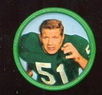 1962 Salada Tea Coins (Football) Card# 22 Jim Ringo Of The Green Bay Packers Exmt Condition