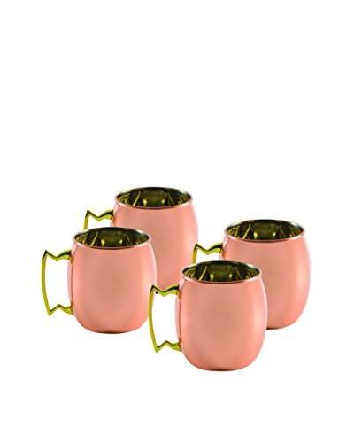10 Strawberry Street Set Of 4 Classic Mini Mugs, Copper