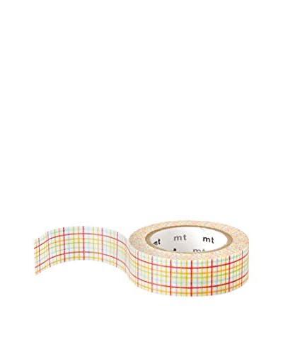mt Masking Tape Plaid Decorative Tape, Multi, 32.8 ft.