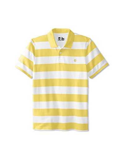Timberland Men's Short Sleeve Rugby Stripe Polo