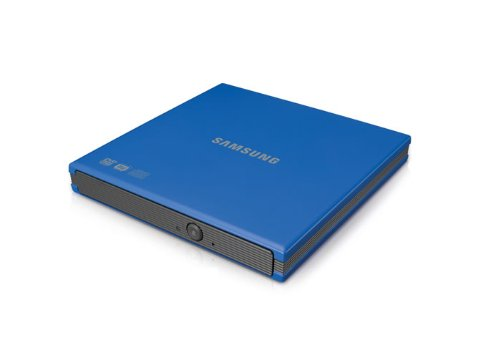 Samsung USB 2.0 8x DVD Writer External Optical Drive for Mac and PC SE-S084F/RSBS (Blue)