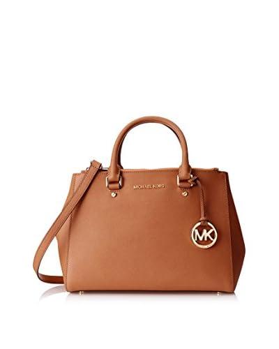 MICHAEL Michael Kors Women's Sutton Medium Satchel, Luggage, One Size