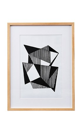 "House Doctor Bild ""Angled Lines"", Birke, 30x40cm"