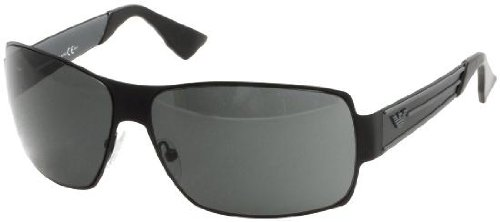 Emporio Armani Wrap Sunglasses Black Smoke EA