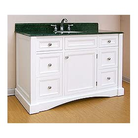Empire Newport Collection Granite & Marble Rose Bathroom Vanity Top with White Undermount Bowl Installed 48""