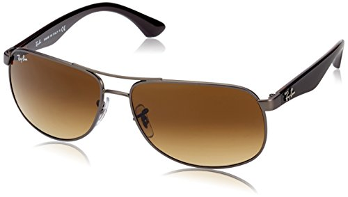 Ray-Ban RB3502 Occhiali da sole Aviator, Marrone