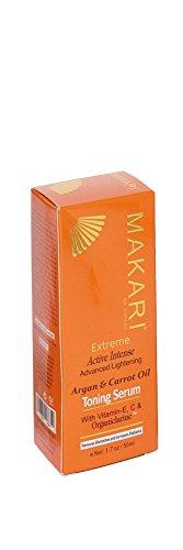 Makari Extreme Active Intense Advanced Lightening Argan & Carrot Oil Toning Serum with Vitamin E, C & Organiclarine 50ml