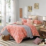Hampton Hill Portico Comforter Set, Queen, Mango