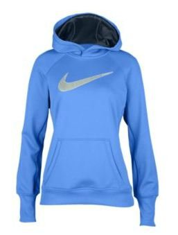 Women's Nike All Time Swoosh Out Big Logo Hoody Lake Blue/White Lime