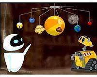 Help WALL-E build a model of the solar system for EVE.