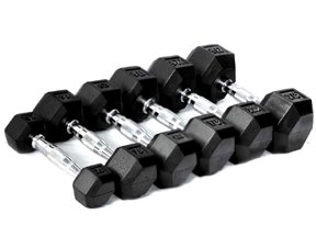 319 %2Ba1A4AL CFF Rubber Hex Dumbbell Set, 5   25 lbs