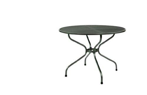 MWH 6860-4 Gartentisch mit Streckmetallplatte Farbe: graphit, Durchmesser 105 cm