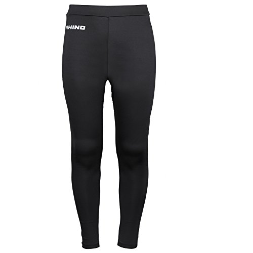 rhino-base-layer-tights-junior-sport-compression-fit-unisex-thermal-pants-black-ly-xly-11-12-yrs