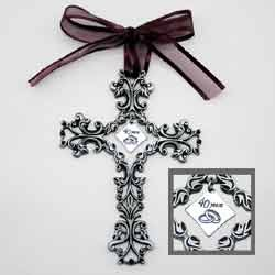 40th Anniversary Cross Ornament - Beautiful & Traditional 40th Anniversary Gift Idea
