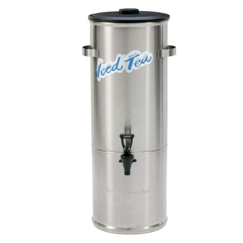 Wilbur Curtis Iced Tea Dispenser 5.0 Gallon Round Tea Dispenser - Designed to Preserve Flavor - TC-5H (Each)