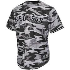 Boston Red Sox Licensed Black and Gray Camo Jersey