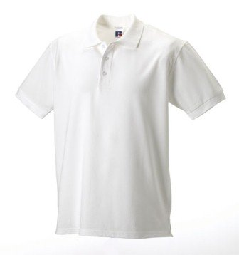 Russell 588M Mens Pima Cotton Polo Shirt White XL