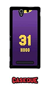 Caseque IPL Kolkata Knight Rider HOGG Jersey Back Shell Case Cover For Sony Xperia C3