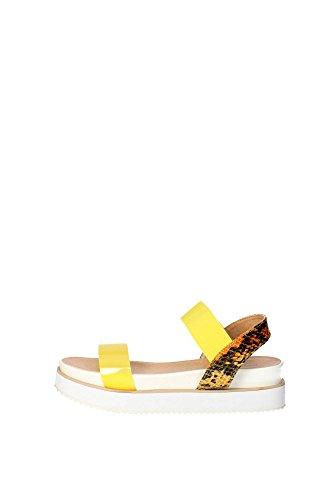 Docksteps DSE103498 Sandalo Donna Pelle Giallo Giallo 40
