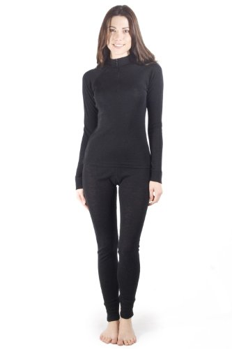 Talus Womens Ladies Base Layer Zip Neck Top