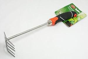 Ambassador deluxe stainless steel hand held garden rake for Hand held garden shovel