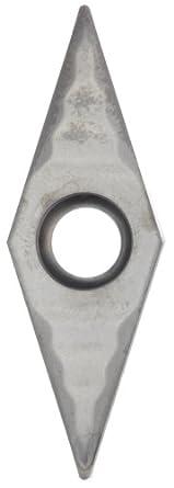 Sandvik Coromant T-MAX U Carbide Turning Insert, VCGX Style, 35 Degree Diamond Shape, AL Chipbreaker, H10 Grade, Uncoated