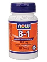 B-1 100 mg 100 Tablets by NOW Foods