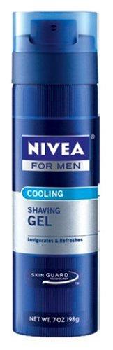Nivea For Men Cooling Shave Gel, 7-Ounce Canister (Pack of 12)