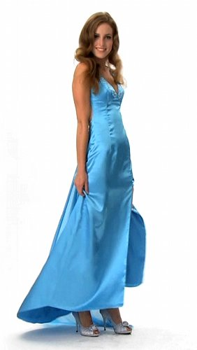Luxus Abendkleid, Ballkleid, Kleid, Empire Linie, Farbe blau, Gr.34