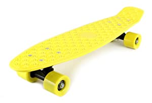Buy Retro Wave Cruiser Complete 22 Banana Penny Skateboard (Yellow) by Skateboards