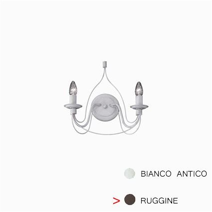 Luminaire applique Ideal Lux CORTE AP2 RUGGINE