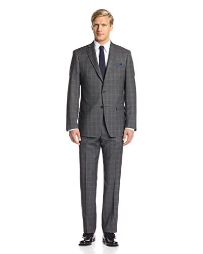 Franklin Tailored Men's Textured Windowpane Tracy Suit