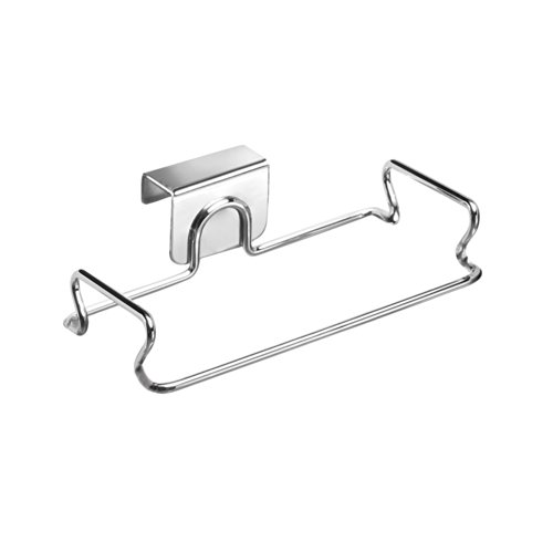 InterDesign Classico Over the Cabinet Plastic Bag Holder for Kitchen - Chrome (Over The Cabinet Trash Holder compare prices)