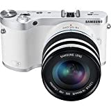 "Samsung NX300 20.3MP CMOS Smart WiFi Compact Interchangeable Lens Digital Camera with 20-50mm Lens and 3.3"" AMOLED Touch Screen (White)"