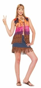 60s Hippie Fringe Vest Adult Accessory