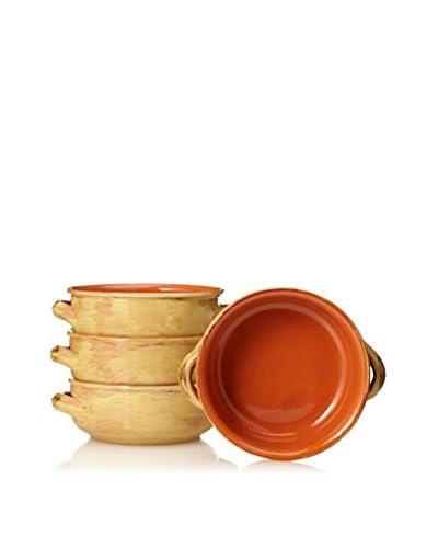 COLI Bakeware Set of 4 Rustic French Soup Bowls, Saffron
