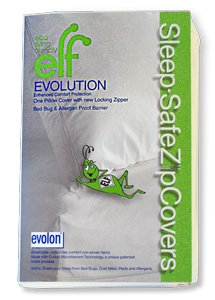 SLEEP SAFE BED BUG, DUST MITE, and ALLERGEN PROOF -ZipCover, King 21″ x 37″ Pillow ENCASEMENT