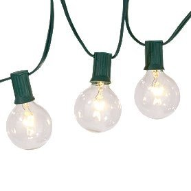 Amazon.com : Clear Globe String Lights - Set 15 - G50 base : Round Patio Party Lights : Patio ...