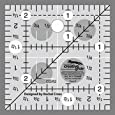 "Creative Grids Quilting Ruler 2 1/2"" Square"