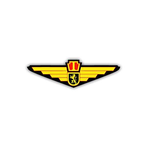 Aufkleber / Sticker - Belgische Luftwaffe Kokarde Wappen Abzeichen Emblem Militär Luftwaffe Belgien passend für VW Golf Mercedes Benz Audi Opel (10x3cm)#A1072