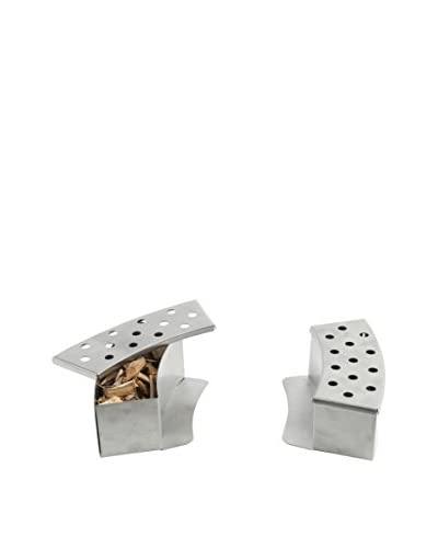 Pizzacraft Set of 2 Stainless Steel Curved Smoker Boxes