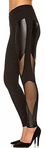 happy-lily-femme-basse-skinny-pour-femme-patchwork-cuir-fil-net-pour-femme-sport-femme-capri-pantalo