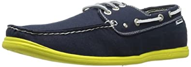 Nautica Men's Hyannis Boat Shoe, Navy/Citron, 7.5 M US